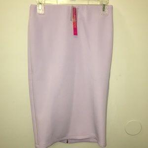 NWT Catherine Malandrino Lavender Pencil Skirt